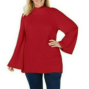 CHARTER CLUB BELL SLEEVE TUNIC TOP SWEATER